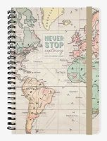 Map Medium Spiral Bound Diary 2019-2020