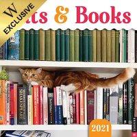 2021 Cats & Books Wall Calendar