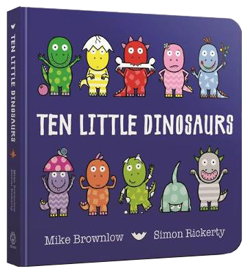 Ten Little Dinosaurs Board Book - Ten Little (Board book)