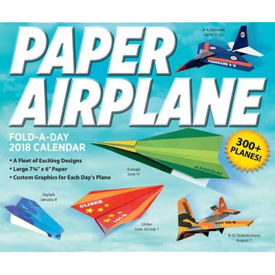 Paper Airplane Fold-a-Day 2018 Day-to-Day Calendar