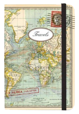 Vintage Map Small Journal