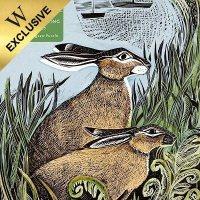 Adult Jigsaw Puzzle Angela Harding: Rathlin Hares (500 pieces)