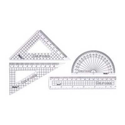 Helix Oxford 4 Piece Ruler Set