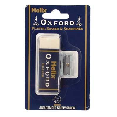 Helix Oxford Plastic Eraser and sharpener