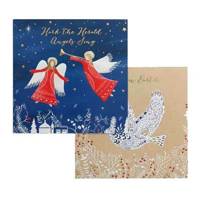 Angels Christmas Cards.Singing Angels Christmas Charity Card Pack