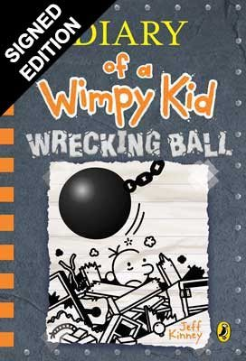 Wrecking Ball: Diary of a Wimpy Kid - Book 14 Signed First Edition (Hardback)
