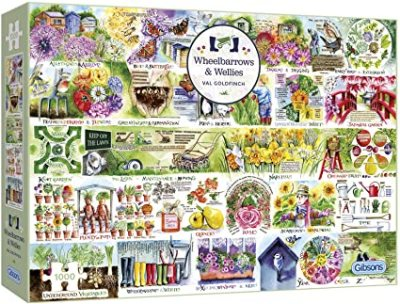 Wellies and Wheelbarrows 1000 piece jigsaw puzzle