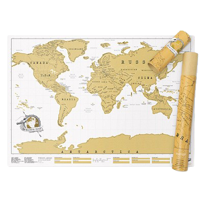 World Scratch Map Waterstones