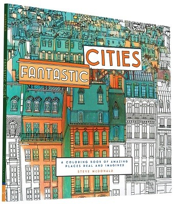 Cityscape Colouring Books Fantastic Cities