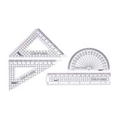 Helix Oxford 4 Piece Ruler Set