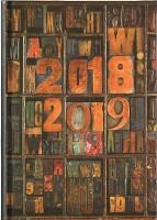 Waterstones Signature Book Blocks Desk Diary 2018-2019