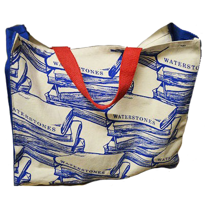 Waterstones Blue Cloth Bag