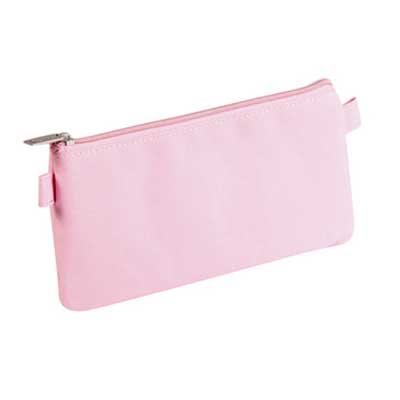 Coloured Textile Flat Pencil Case Assorted