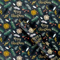 Merry Christmas Foliage Wrapping Paper 3m