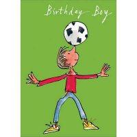 Birthday Boy Football Card