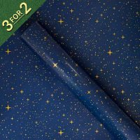 Navy with Gold Stars 3M Roll Wrap