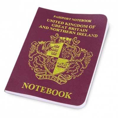 Mini British Passport Notebook