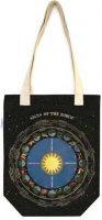 Black Zodiac signs cloth bag