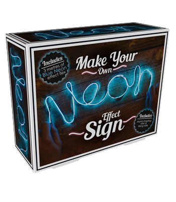 Make Your Own Neon Blue Effect Sign
