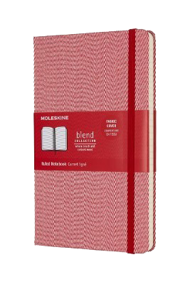 Blend Collection Red Lined Notebook L