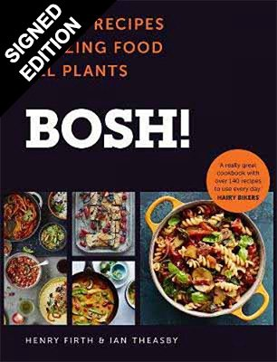 Cover of the book, Bosh!: The Cookbook.