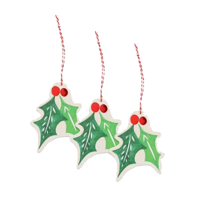 Holly Leaf Gift Tag Pack