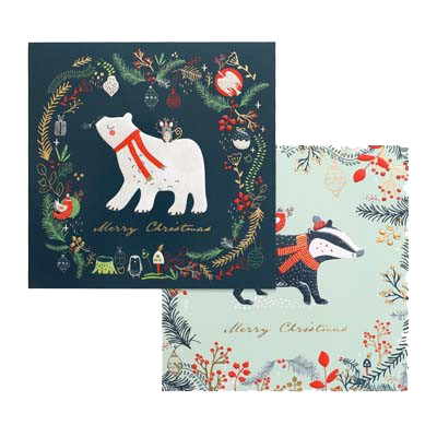 Winter Animals Christmas Charity Card Pack