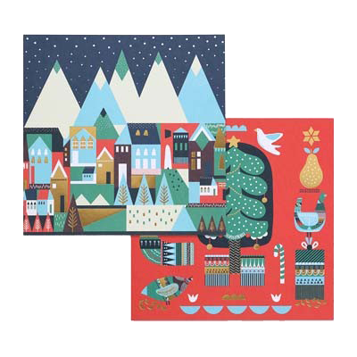 Snowy Mountains Christmas Charity Card Pack