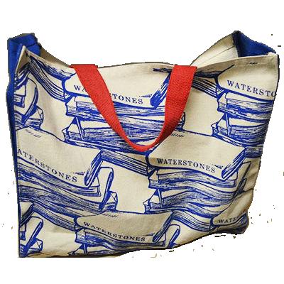 Waterstones Blue Cloth Bag
