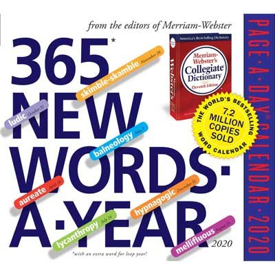 365 New Words-A-Year Page-A-Day Calendar 2020 (Calendar)
