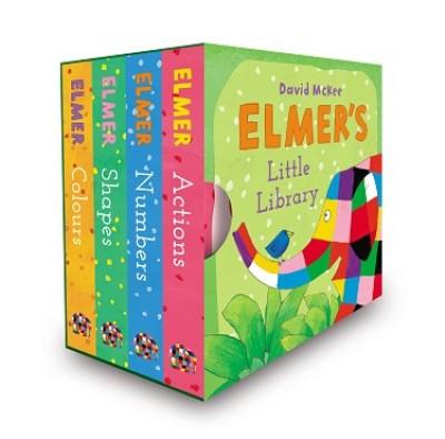 Elmer's Little Library (Board book)