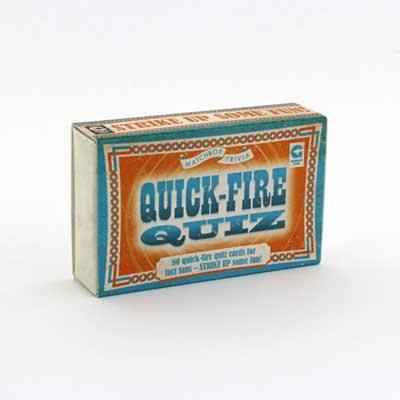 Quick Fire Quiz Matchbox Trivia