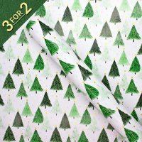 Green Trees with Gold Stars 3M Roll Wrap